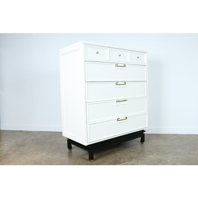 American of Martinsville Lacquered Highboy Dresser - Image 8 of 11