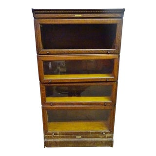Yawman & Erbe 4 Tier Glass Shelf Showcase For Sale