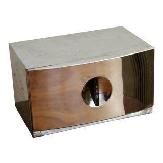 Art Deco Machine Age Chrome Bread Box