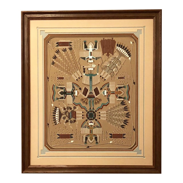 New Mexico Navajo Sand Painting By Rosabelle Ben Chairish