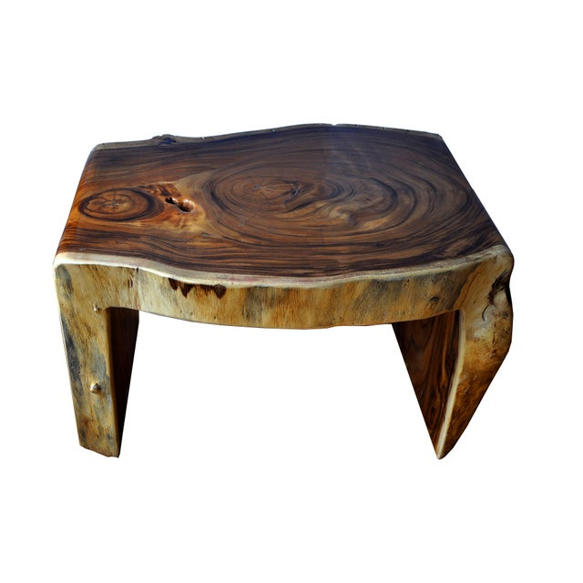 Brown Boho Chic Acacia Coffee Table For Sale - Image 8 of 10