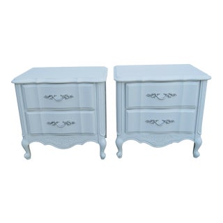 1960s American of Martinsville French Painted Nighstands-a Pair For Sale