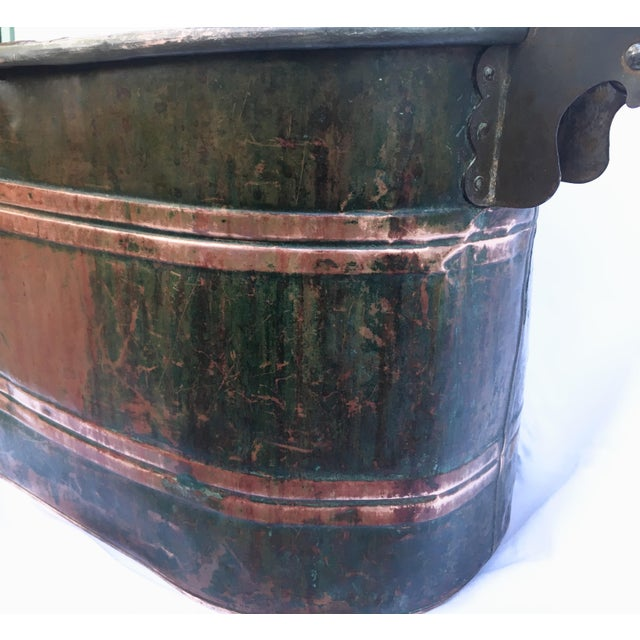 Late 19th Century Late 19th Century Antique Copper Boiler De Luxe Wash Basin For Sale - Image 5 of 9