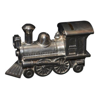 Leonard Silverplate Train Engine Piggybank