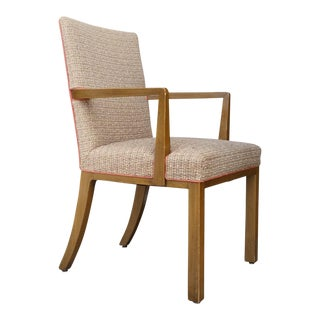 1950's Dunbar Mahogany Armchair Edward Wormley For Sale