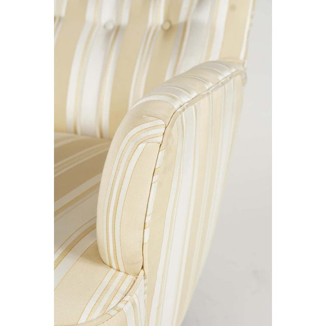 Cream Sculptural Pair of 1950s Midcentury Italian Paolo Buffa Attr. Arm Lounge Chairs For Sale - Image 8 of 11