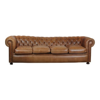 Chesterfield Style Leather Sofa For Sale
