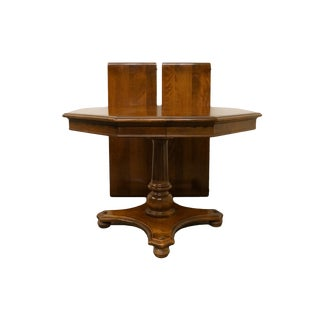 """20th Century Traditional Ethan Allen Solid Maple 72"""" Pedestal Dining Table For Sale"""