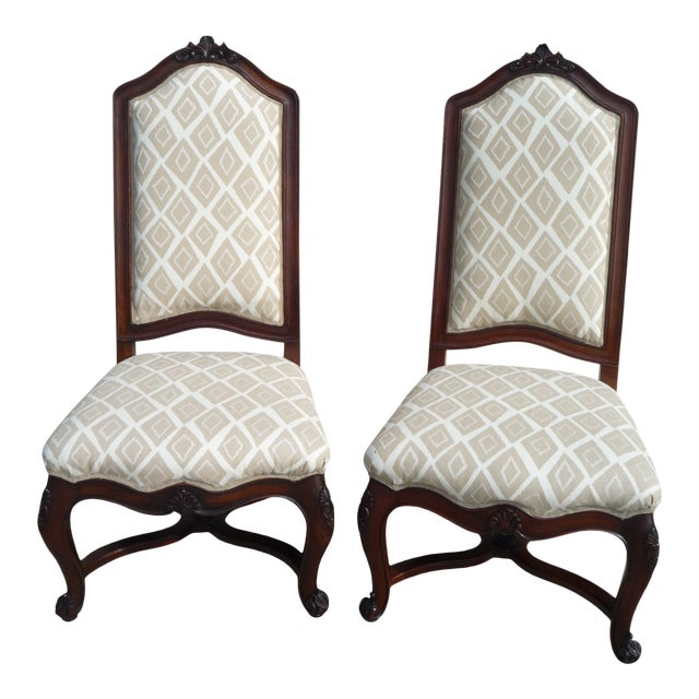 Henredon Vintage Host/Hostess Dining Chairs- A Pair For Sale