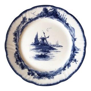 Doulton Burslem Norfolk Blue Windmill Plate For Sale
