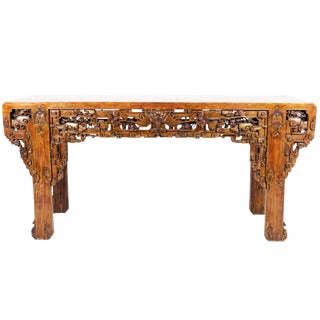 20th Century Chinese Massive Intricately Carved Altar Table For Sale