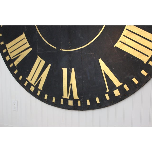Monumental Tower Clock Face For Sale - Image 4 of 8