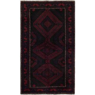 Vintage Mid-Century Afghan Rug - 3′7″ × 6′2″ For Sale