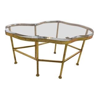 Bungalow 5 Cristal Gold Leaf Coffee Table For Sale
