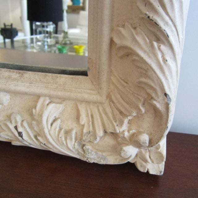 Rococo Heavily Patinated Mirror - Image 8 of 8