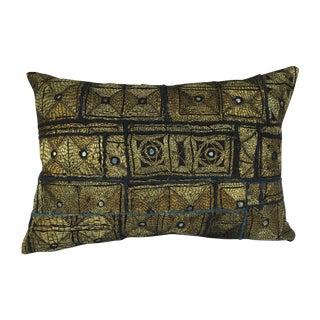 Art Deco Gold Metallic Pillow For Sale