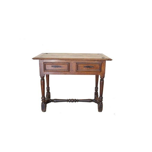 Antique French Louis XIII Side Table For Sale - Image 9 of 9