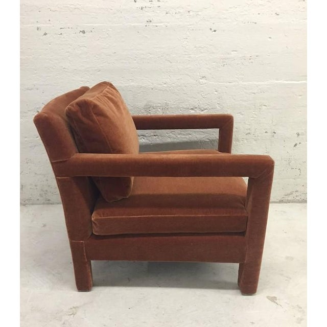 Pair of Milo Baughman Lounge Chairs in Mohair - Image 4 of 5