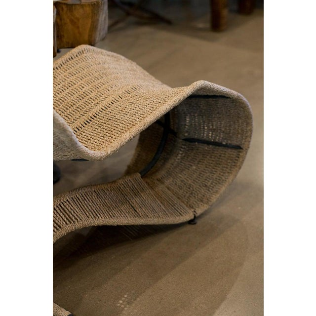 1990s Dixon Bolide Wicker Chaise, London, 1991 For Sale - Image 5 of 7