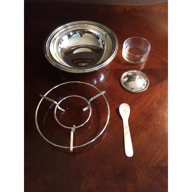 Italian Gorham Silver Plated Caviar Serving Set - Set of 5 For Sale - Image 3 of 3