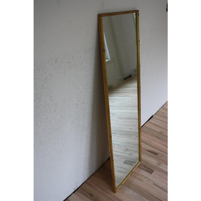 Vintage Gilt Faux Bamboo Rectangular Mirror - Image 6 of 7