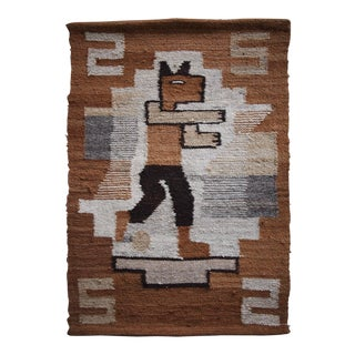 Vintage Peru Woven Wall Hanging For Sale