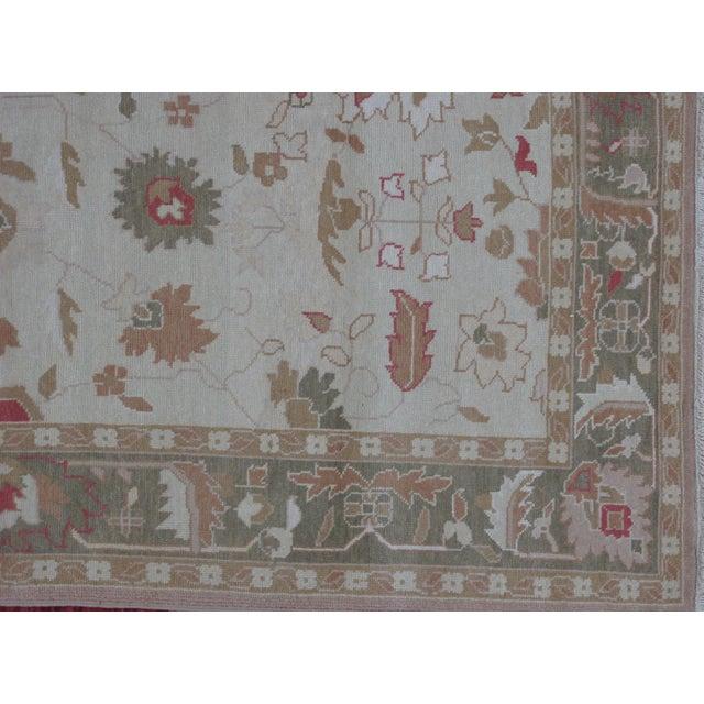 Turkish Oushak Design Hand Woven Wool Rug - 4' X 6' - Image 3 of 5