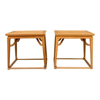 Pair of Walnut End Tables by Michael Taylor for Baker For Sale