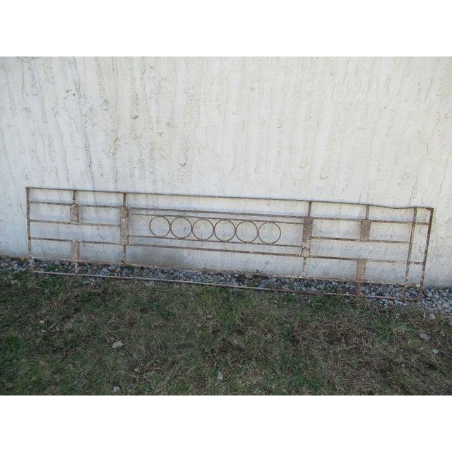 Antique Victorian Iron Gate Window Garden Fence Architectural Salvage Door #081 For Sale In Philadelphia - Image 6 of 6