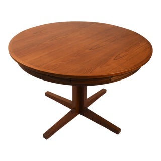 "Mid Century Danish Modern Dyrlund ""Flip-Flap"" Lotus Dining Table"