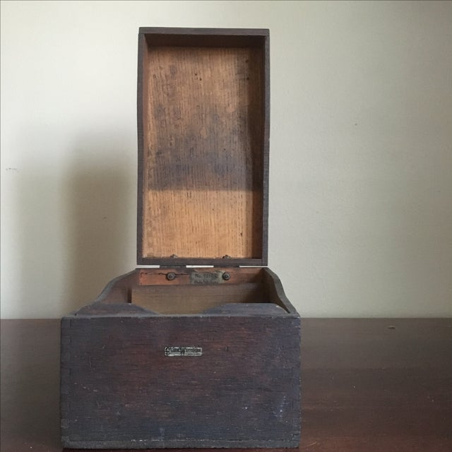 Vintage Globe Wernicke Wooden Index Card File Box For Sale - Image 9 of 11