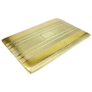 14k Gold Tiffany Cigarette Case, Circa 1920 For Sale