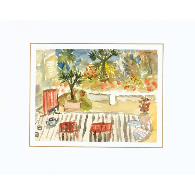 Vintage Watercolor Painting, C. 1960 - Image 3 of 3