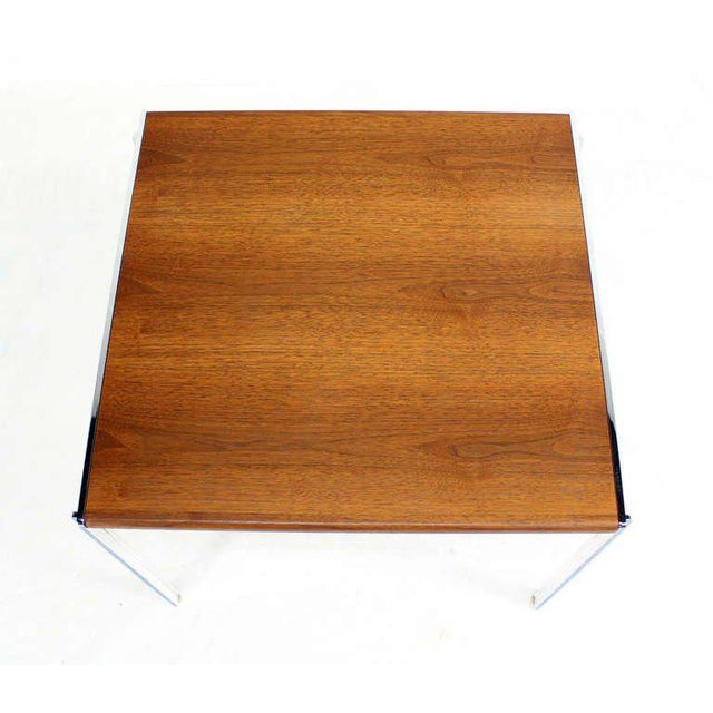 Mid 20th Century Mid-Century Modern Stow Davis Walnut and Chrome Coffee Table For Sale - Image 5 of 11