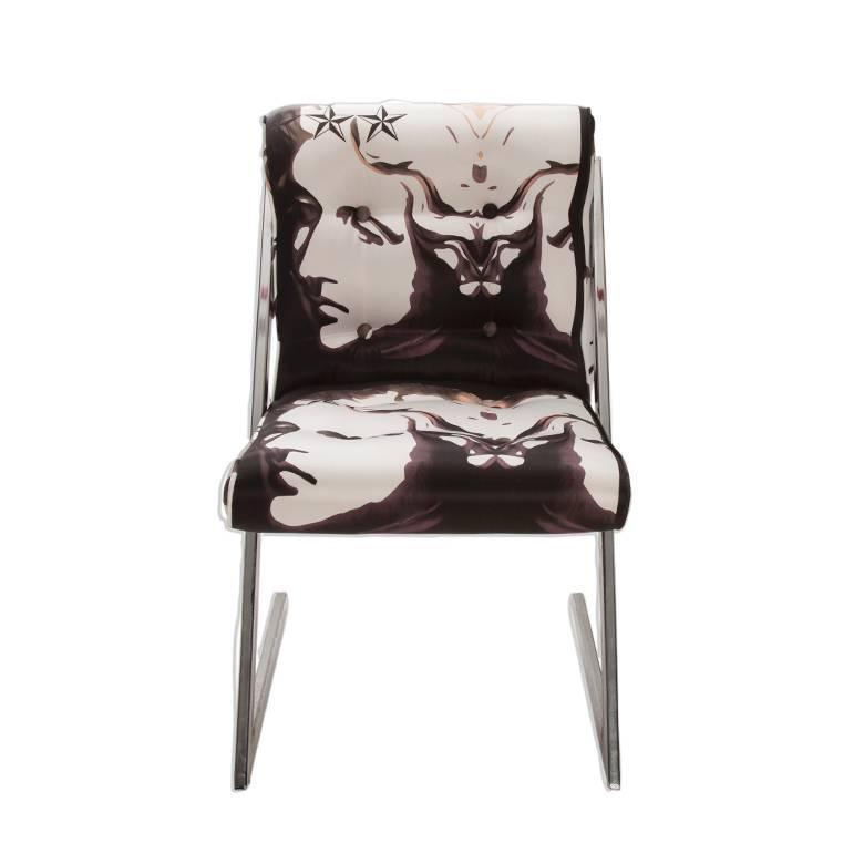 1980s Chrome Z Dining Chairs In Roberto Cavalli Set Of 6 Chairish