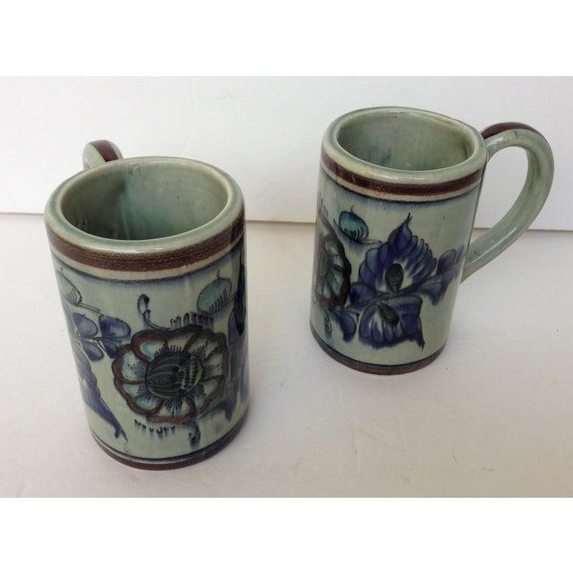 91bdc34d0ae Tonala Talavera Folk Mexican Studio Art Ceramic Mugs - Set of 2
