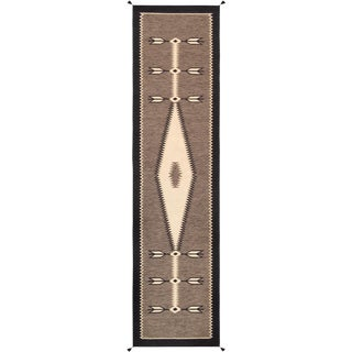 Contemporary Navajo Style Wool Runner Rug - 2′6″ × 8′ For Sale