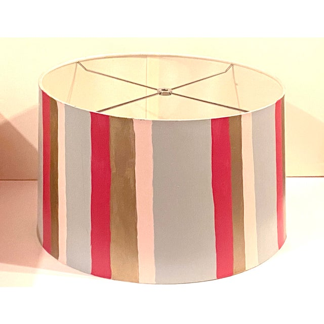 Hand Painted Custom Modern Lampshade For Sale - Image 12 of 12