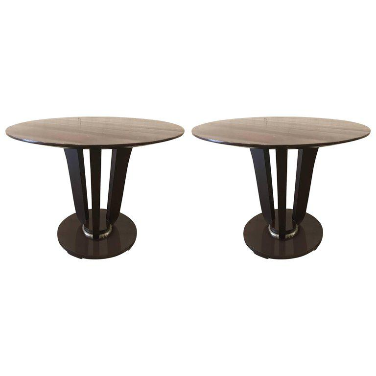 Exceptional Pair of Barbara Barry Gueridon Tables for Baker DECASO