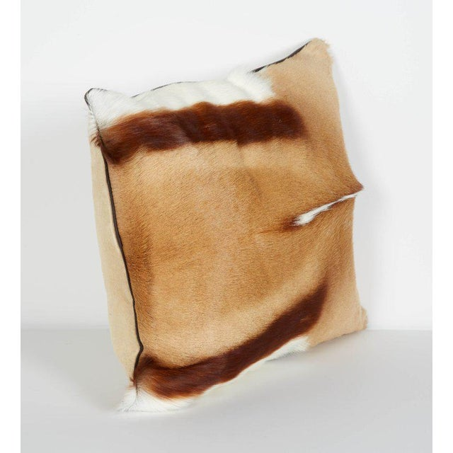 Pair of Luxury Fur Throw Pillows in Exotic African Springbok For Sale - Image 4 of 8