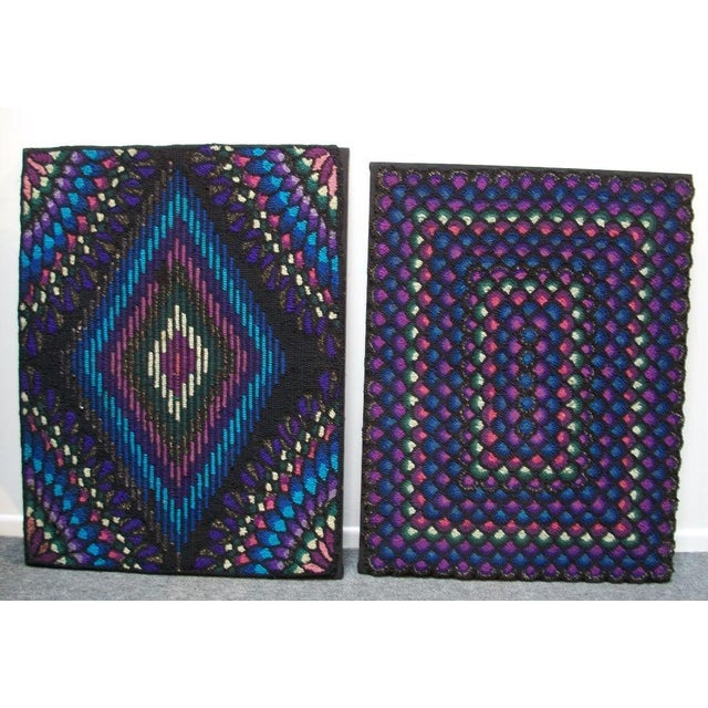 20th Century Pennsylvania Mennonite Geometric Rug - Image 6 of 7