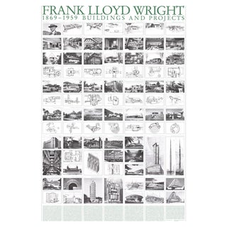 Frank Lloyd Wright, Buildings and Projects, Offset Lithograph, 2017 For Sale
