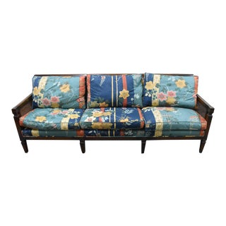 1980s Vintage French Provincial Style Floral Upholstered Sofa For Sale