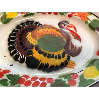 Enameled Midcentury Turkey Platters, Pair Preview