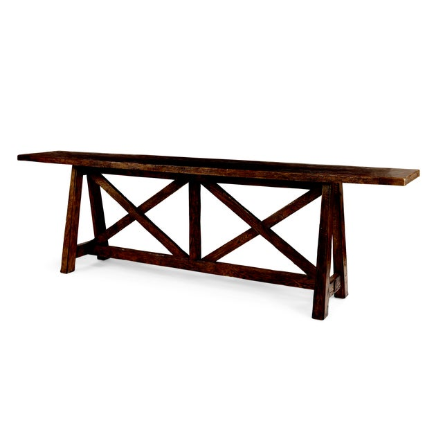Rustic Century Furniture Marbella Tierra Console Table For Sale - Image 3 of 3
