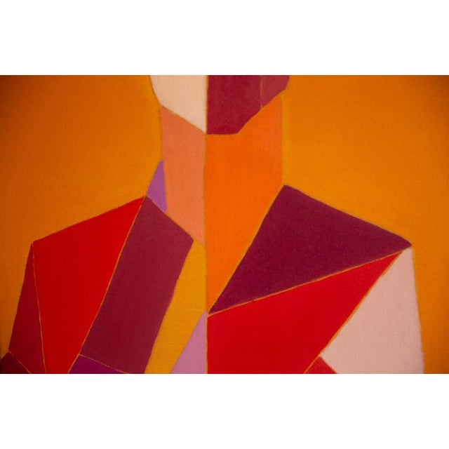 """Figurative Bill Tansey """"Male 2"""" Abstract Oil Painting on Canvas For Sale - Image 3 of 7"""