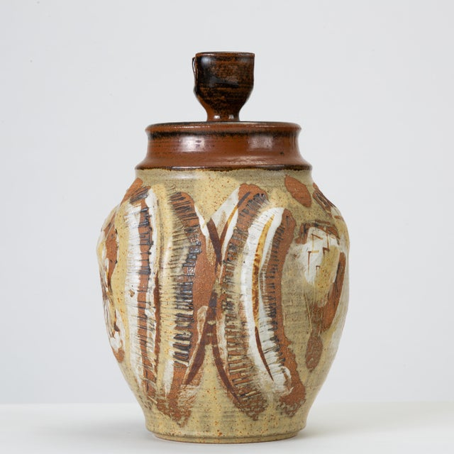California Modern Large Studio Pottery Jar With Lid by Don Jennings For Sale - Image 4 of 13