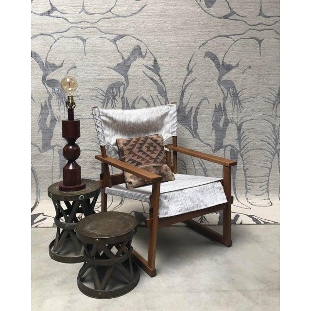1950s Danish Modern Poul Hundevad Safari Chair For Sale - Image 11 of 12