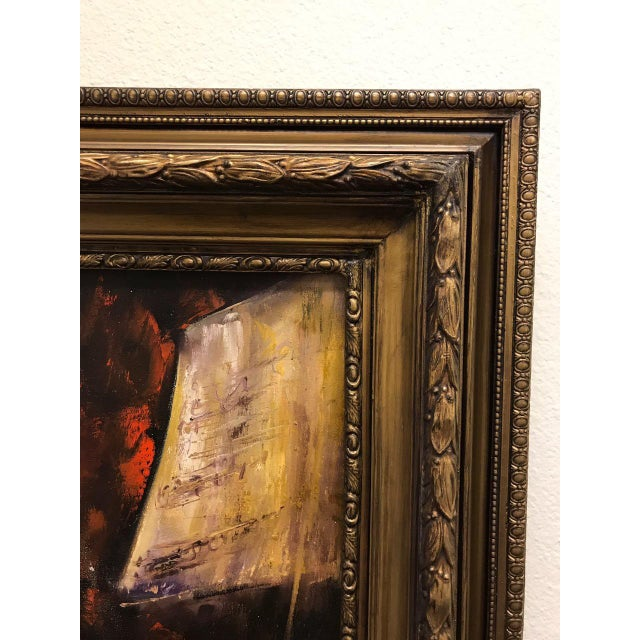 Yellow French Style Oil Painting For Sale - Image 8 of 11
