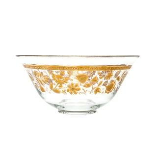Vintage Culver 22k Gold-Trimmed Serving Bowl